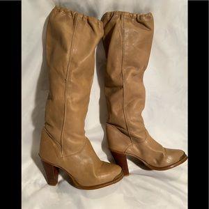 Vintage ZODIAC Tan Elastic Top Slouch Boots 7.5